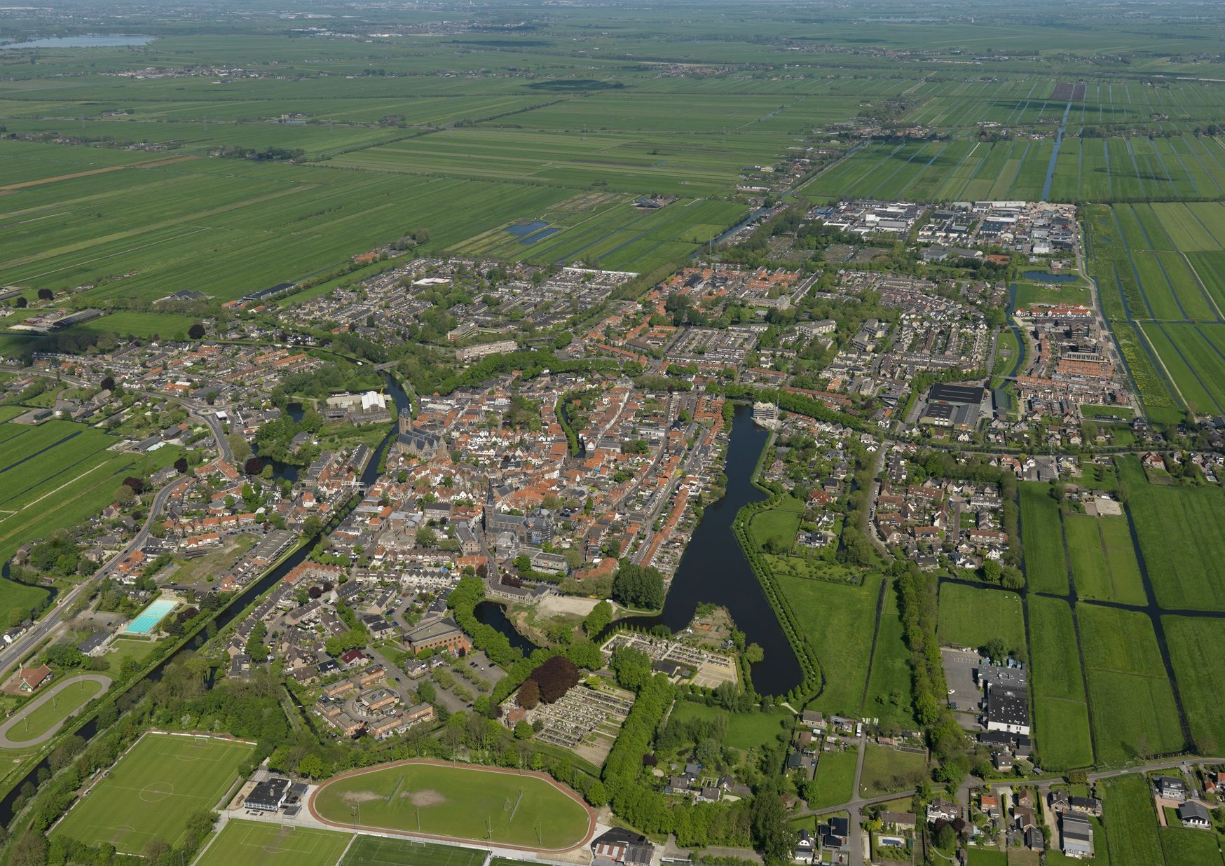 Luchtfoto Oudewater